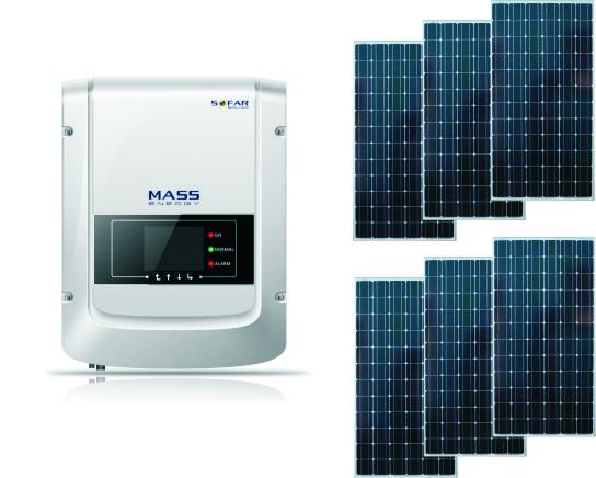 Сетевая солнечная электростанция 1,1 кВт