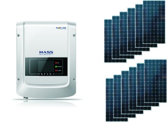 Сетевая солнечная электростанция 2.2кВт
